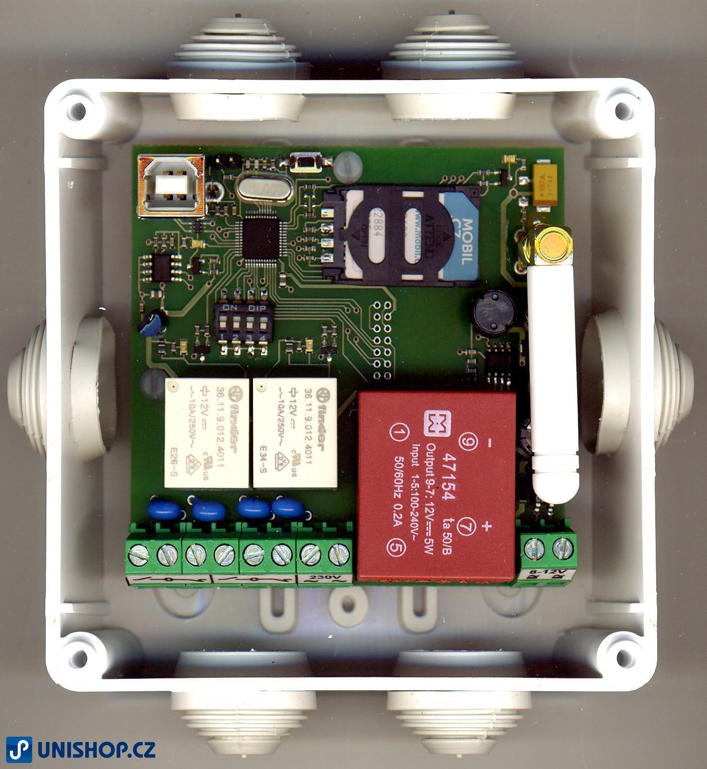 GSM dálkové otevírání vrat, brány (MB95-GSM-relé 2000)