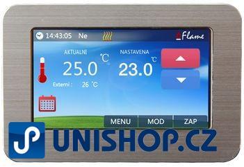 Pokojový termostat s barevným dotykovým displejem Flame Touch