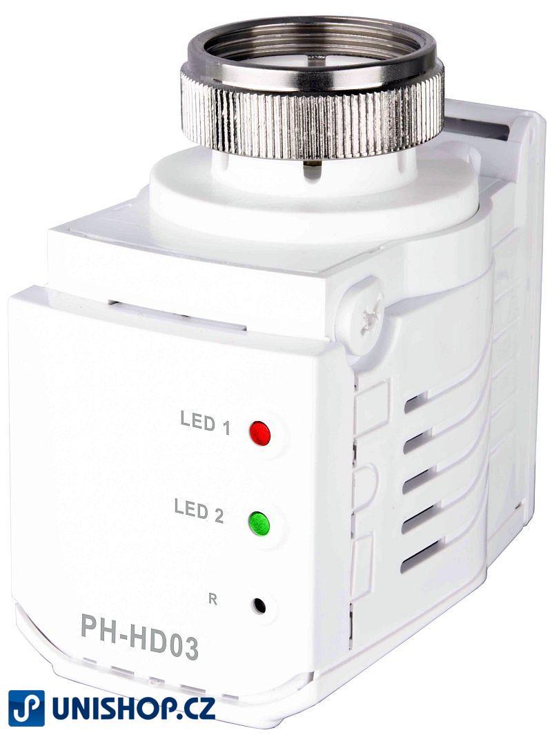 PH-HD03 - Bezdrátová digitální hlavice Ovládá polohu ventilu podle požadované teploty.