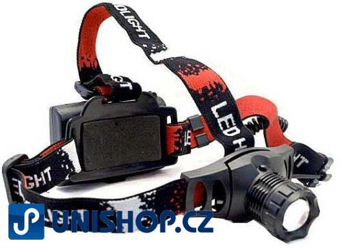 Svítilna LED 5W ,čelovka-model 6522, napájení 3xAA