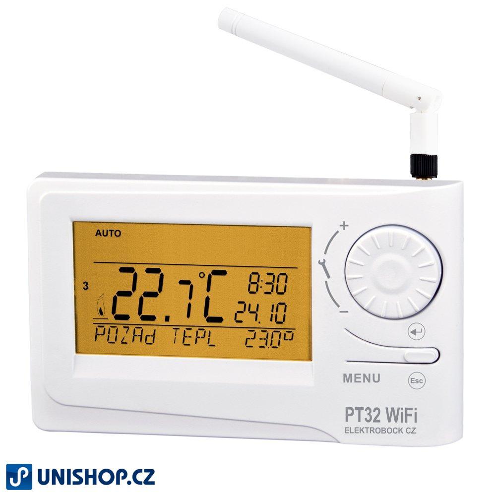 PT32 WiFi, AKCE Termostat s WiFi modulem Inteligentní termostat s možností ovládání přes WiFi. S aplikací PT32 WiFi pro chytré telefony je možné plně ovládat Váš topný systém.