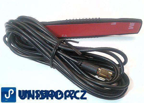 Anténa GSM Adhesiv 25, 2,5 dB, SMA(m), RG174U/3m