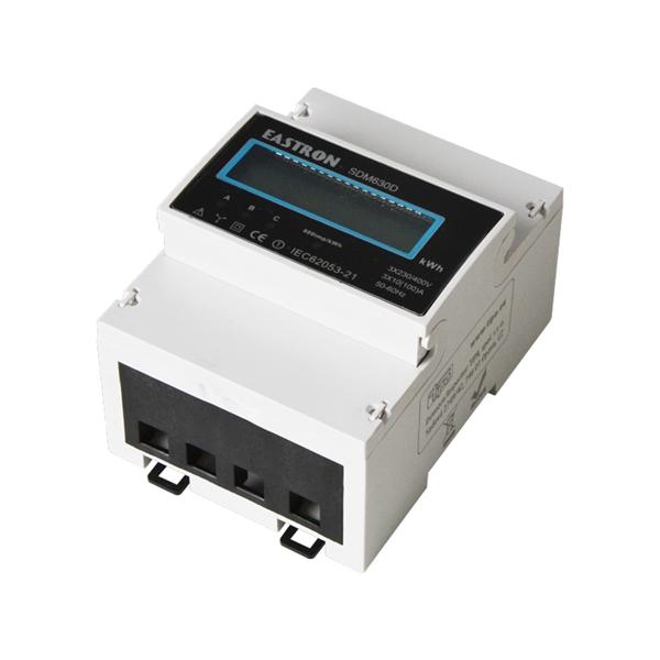 Elektroměr 3F na DIN lištu třífázový 630D, digitální Digitální elektroměr na DIN, trojfázový, odpočtový