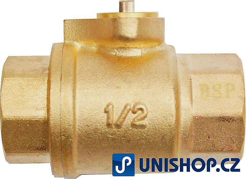 """Zónový kulový ventil tělo T15, G½"""" - mosaz"""