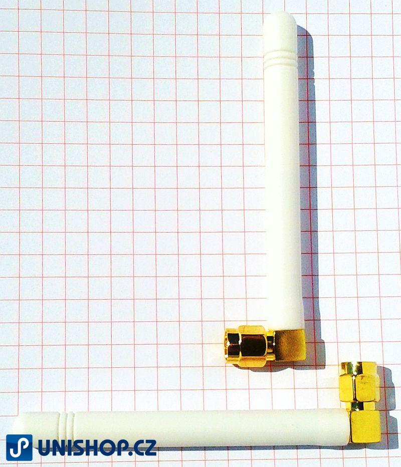 GSM střední úhlová anténa bílá, 90 st.