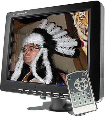 """LCD color monitor TFT 8"""" 3x video vstup/audio"""