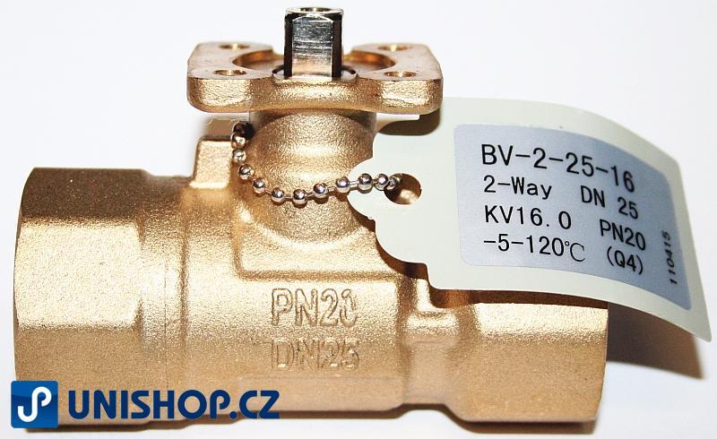 """BV-2-25-16; Zónový regulační kulový ventil tělo G1"""" - mosaz"""