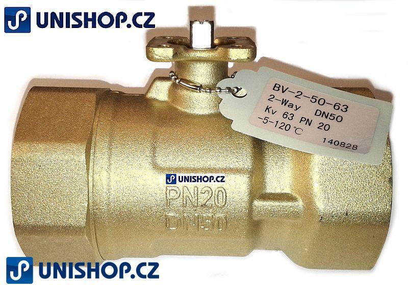 """BV-2-32-25; Zónový regulační kulový ventil tělo G1 1/4"""" (5/4"""") - mosaz"""