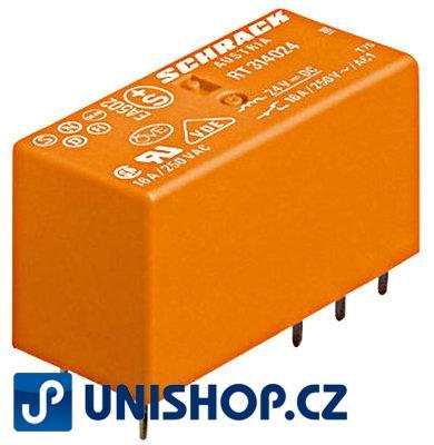 Relé RT 2P/8A, 24VDC, 5mm; SCHRACK Technik