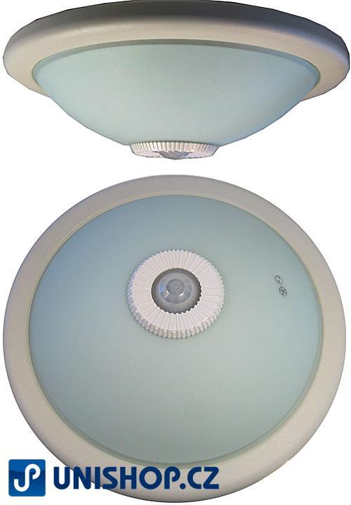 Stropní světlo kulaté s PIR čidlem bílé 230V / 2x20W