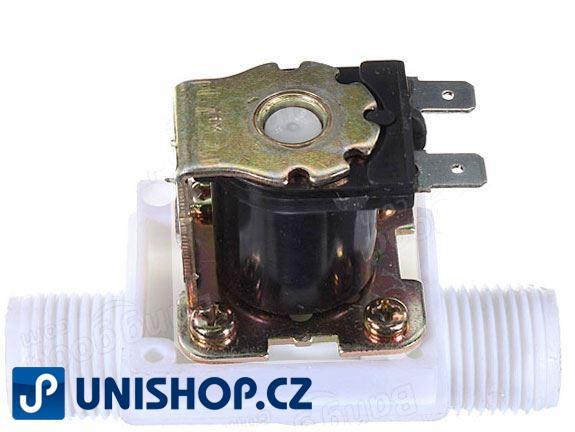 """Elektromagnetický ventil 12V na vodu plastový - JP1515; NC, G1/2"""", 12VDC"""