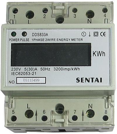 Digitální elektroměr 1 fázový na DIN lištu
