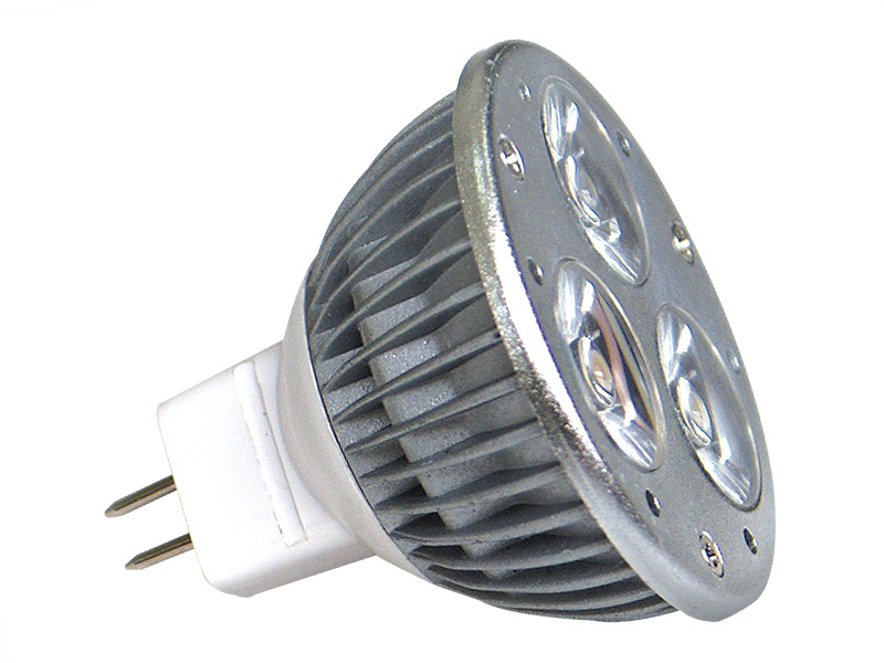 Fotografie LED POWER MR16 3x1W-CW studená bílá