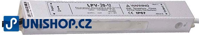 Fotografie Elektronický transformátor 12V/20W LPV20-12 pro LED osvětlení