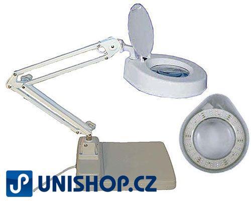 Stolní lupa s osvětlením LED, 8 dioptrií, podstavec