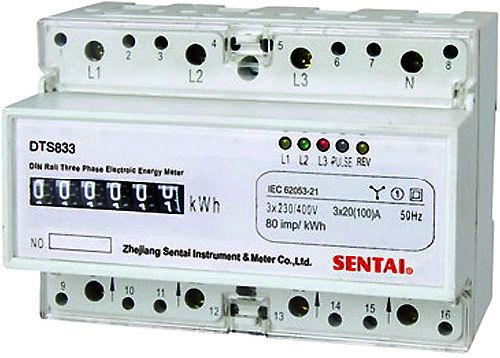 Elektroměr 3 fázový analogový na DIN lištu třífázový elektroměr na DIN
