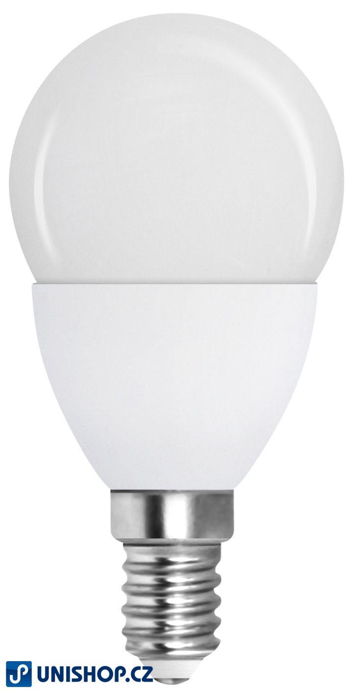 LED úsporná žárovka Müller 2W E14 teple bílá GLOBE