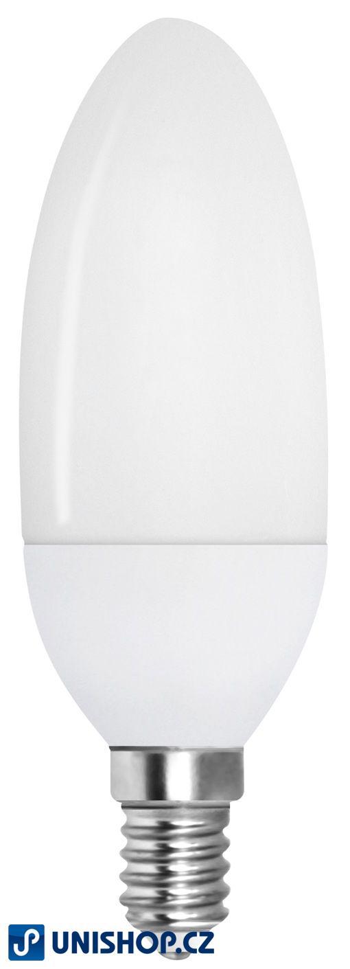 LED úsporná žárovka Müller 2W E14 teple bílá SVÍČKOVÁ