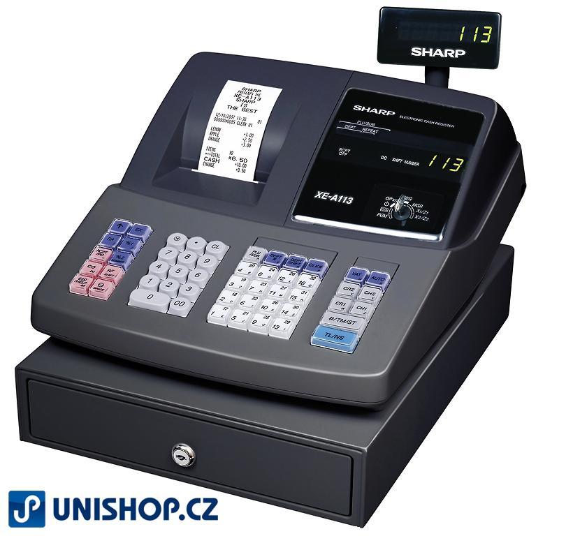 XE-A113B černá registrační pokladna SHARP