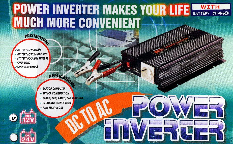 záložní zdroj - Měnič napětí 12V/230V 600W CZ + nabiječka autobaterií max.3A UPS