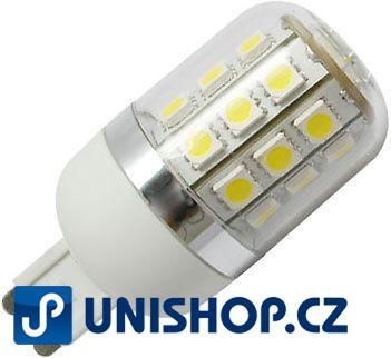 Žárovka LED G9, 27xSMD5050, 230VAC bílá teplá