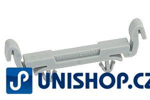 DIN držák plastový univerzální; WAGO 209-188 jednoduchý univerzální držák na DIN lišty - plastový na plošné spoje