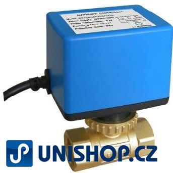 Zónový ventil Lufberg ZV 2-20-8 230V se servopohonem - dvojcestný ventil 230V;