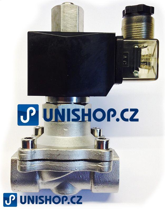 """MP-W350-35SVK, NO, 230V AC,G 1 1/4 """" - nerezový - Elektromagnetický ventil"""