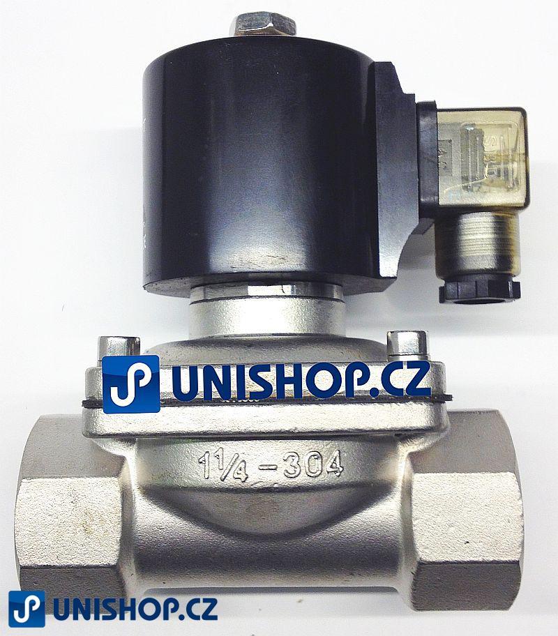 """MP-W400-40SVK, NO, 230V AC,G 1 1/2 """" - nerezový - Elektromagnetický ventil"""