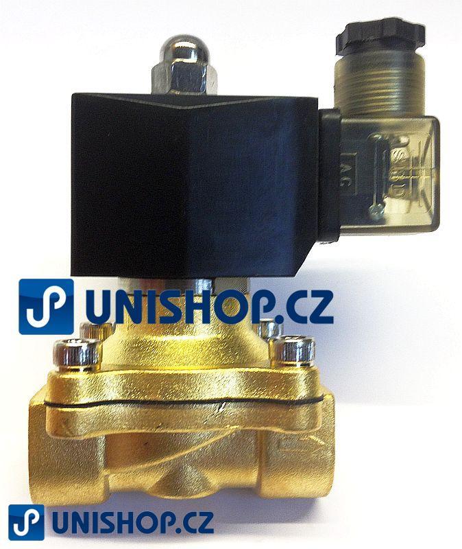 "MP-W16015V, NC, G 1/2""- mosaz, 230V AC G 1/2 "" - Elektromagnetický ventil"