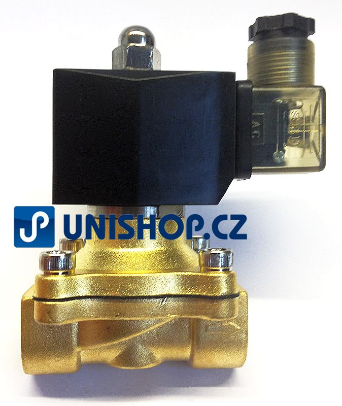 "MP-W20020V, NC, G 3/4""- mosaz, 230V AC - Elektromagnetický ventil"