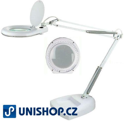 Stolní lupa LED ZD-129LED,5 dioptrií, podstavec