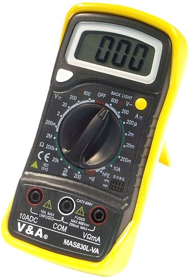 Multimetr MAS830L V+A