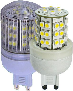 Žárovka LED-48x SMD G9 230VAC bílá teplá